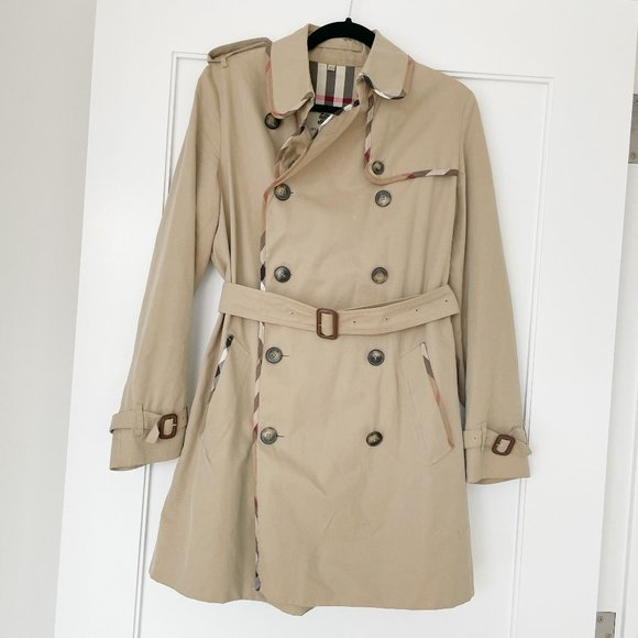 Burberry Trench Tan Belted Safari Jacket